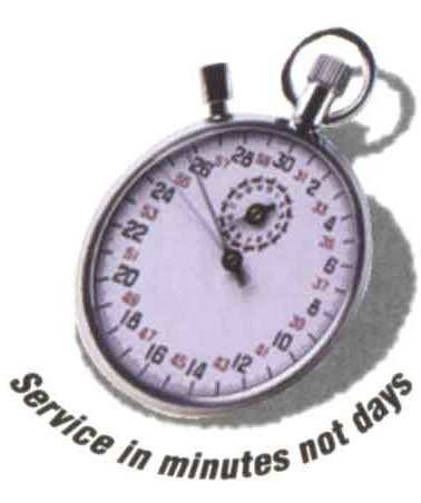 Service in minutes